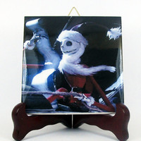 The Nightmare before Christmas Ceramic Tile - Handmade from Italy - High Quality Jack Skellington Sally Tim Burton  mod. 117