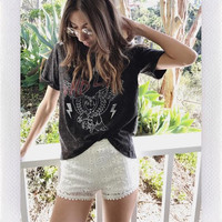 WILD LIFE ACID WASH TOP- BLK from shopoceansoul