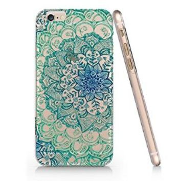 Blue Mandala Pattern Slim Iphone 6 Case, Clear Iphone 6 Case Plastic Hard Case Unique Design-Quindyshop (AMSL14)