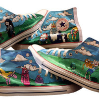All Over Adventure Time Converse by elizabethpicardi on Etsy