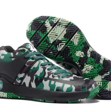 HCXX N304 Nike Zoom KD Trey 5 iv Low Actual Basketball Shoes Camouflage Green