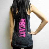 Tank #BEAST. Beast Tank. Beast Shirt. Beast Racerback Tank Top. Womens Motivational Tank Top. Workout Tank. Crossfit Tank. Gym Tank Top.