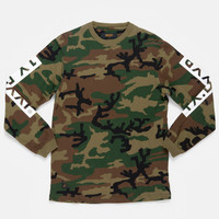 10Deep | Tops | Triple Box Longsleeve Tee - Woodland