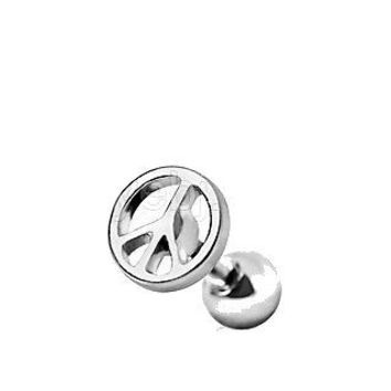 Surgical Steel Peace Sign Cartilage Earring