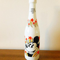 NSDA Convention 1977 Anaheim CA Disney Collector Bottle, National Soft Drink Association Commemorative Bottle, Mickey Mouse Soda Bottle