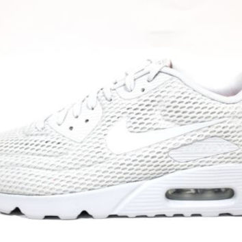 Nike Men's Air Max 90 Ultra BR Platinnum White Running Shoes 725222 012 size 13