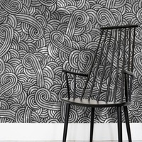 'Grey and black swirls doodles' Wallpaper by Savousepate on miPic