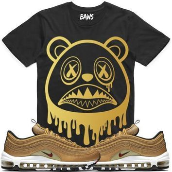 DRIP BAWS Sneaker Tees Shirt - Air Max 97 Metallic Gold