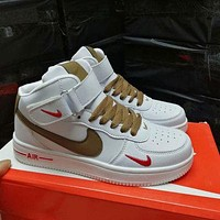 Free shipping / Nike Air Force 1 07 Premium high-top casual men's and women's sneakers shoes