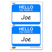 Joe Hello My Name Is - Sheet of 2 Stickers