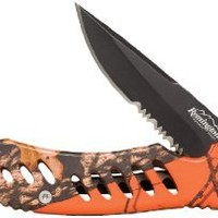 Remington Cutlery R19767 F.A.S.T. Large Folder Knife with Black Oxide Finish Serrated Blade, 5-Inch, Mossy Oak Blaze