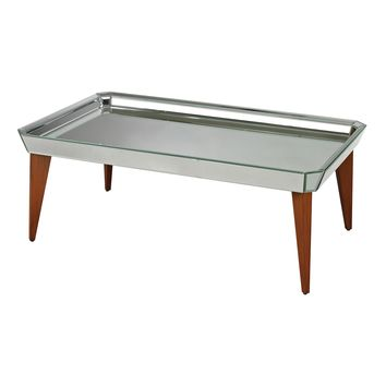 135-002 Rushbrook Mid-Century Mirrored Coffee Table By