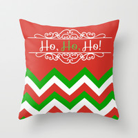 Color Blocked Chevron: Holiday Throw Pillow by Josrick