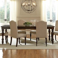 Elegant Cream and Brown Dining Set | McGregor 5 Piece Dinette Set