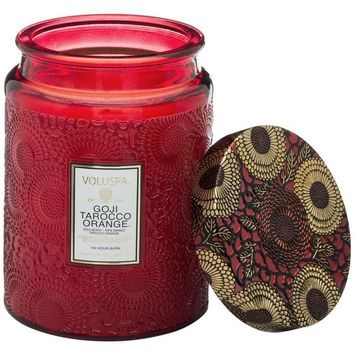 Voluspa Goji & Tarocco Orange Large Jar Candle