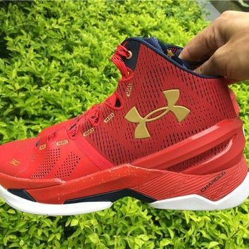 Under Armour Curry 2 Floor General 1259007-601 Basketball Shoes - Beauty Ticks