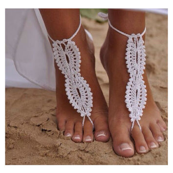 Alice White Crochet Sandal