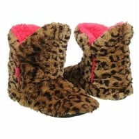 Accessories Dearfoams Women's Pile Boot Cheetah FamousFootwear.com