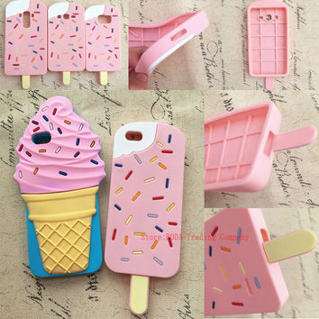 3D mineral water Love Popsicles ice cream Soft Silicone Case for iPhone 7 plus 5 5s SE/6s plus/S6 S7 G530 Grand Prime Phone Case