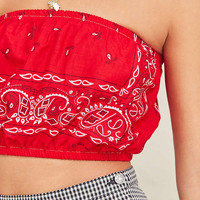 Urban Renewal Remade Bandana Tube Top | Urban Outfitters