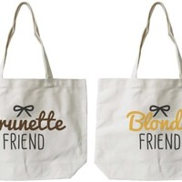 Brunette & Blonde BFF Canvas Bags - 365 Printing Inc