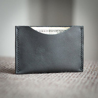 Minimalist Hand Stiched Leather Wallet