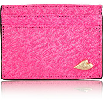 Diane von Furstenberg - Love Tuxedo textured-leather cardholder