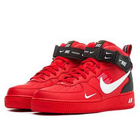 NIKE AIR FORCE 1 MID 07 Tide brand simple version OW high-top sports shoes Red