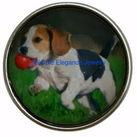 Beagle Dog Snap 20mm for Snap Jewelry