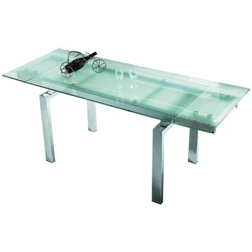 "Casabianca Frosty Collection CB-02DT 63"" - 86"" Extendable Dining Table"