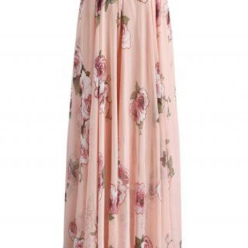Pink Rose Panache Maxi Skirt - Retro, Indie and Unique Fashion