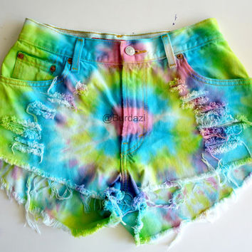 "One of a Kind ""Party Hard"" 27/28 High Waisted Shorts"