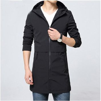 Trench Coat Men Classic Men's Zipper Trench Coat Masculino Mens Clothing Long Jackets & Coats British Style Overcoat Hot Sell