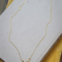 Be A Deer Necklace in Gold
