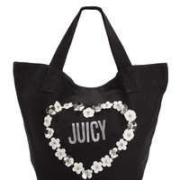 Floral Heart Canvas Tote Bag by Juicy Couture