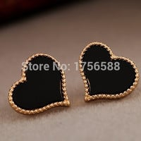 hot new fashion European and American jewelry full of love drip earrings