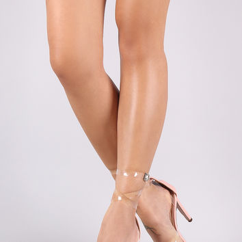 Translucent Straps Single Sole Heel | UrbanOG