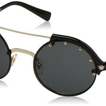 ESBON2D Versace Women's Studded Brow Bar Sunglasses