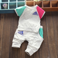 Sporty Newborn-Toddler 2 Piece Shirt-Pant Set