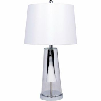 """Globe® Electric 12833 Table Lamp with Glass & Chrome Finish, 26.5"""""""