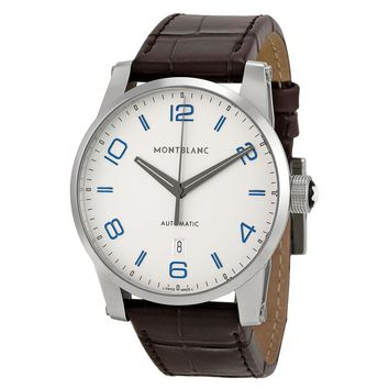 Montblanc TimeWalker Automatic Silver Dial Mens Watch 110338