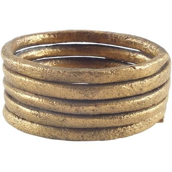 ANCIENT VIKING COIL RING C.850-1050 AD