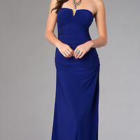 Strapless Floor Length Prom Dress