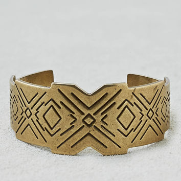 AEO Etched Cuff, Gold