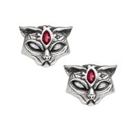 Alchemy Gothic Sacred Kitty Cat Earrings