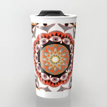 My Solar Plexus Mandhala | Secret Geometry | Energy Symbols Travel Mug by Azima