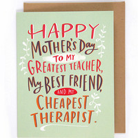Cheapest Therapist Card
