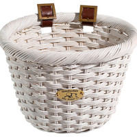Cliff Road Adult Oval Basket, White, Bike Accessories