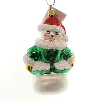 Christopher Radko FOREST BELLA Glass Ornament Snowman Christmas