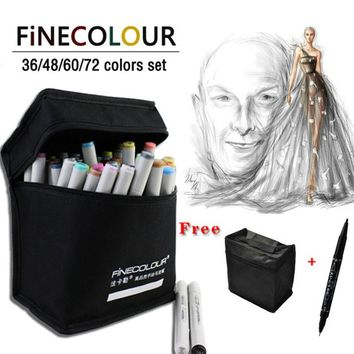 Promotion Price Alcohol Ink Sketch Double Headed Marker Pen Set 24 36 48 60 72 Standard Clothes Paint Sketch Art Copic Marker